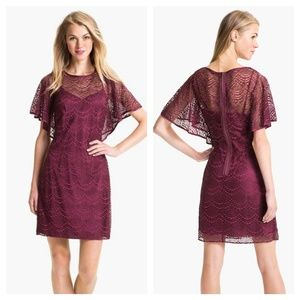 Adrianna Papell batwing overlay lace Dress size 14